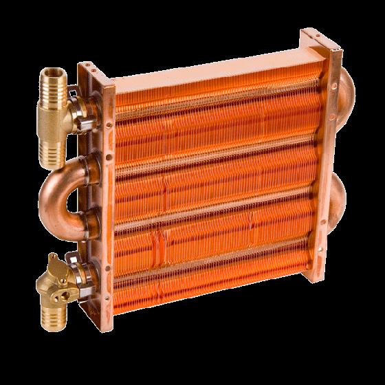 Теплообменник для газового котла hydrosta подключение двух теплообменников для бассейна